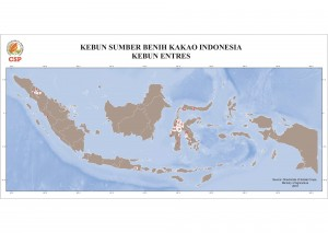 Cacao Seed Sources in Indonesia: Entres Garden